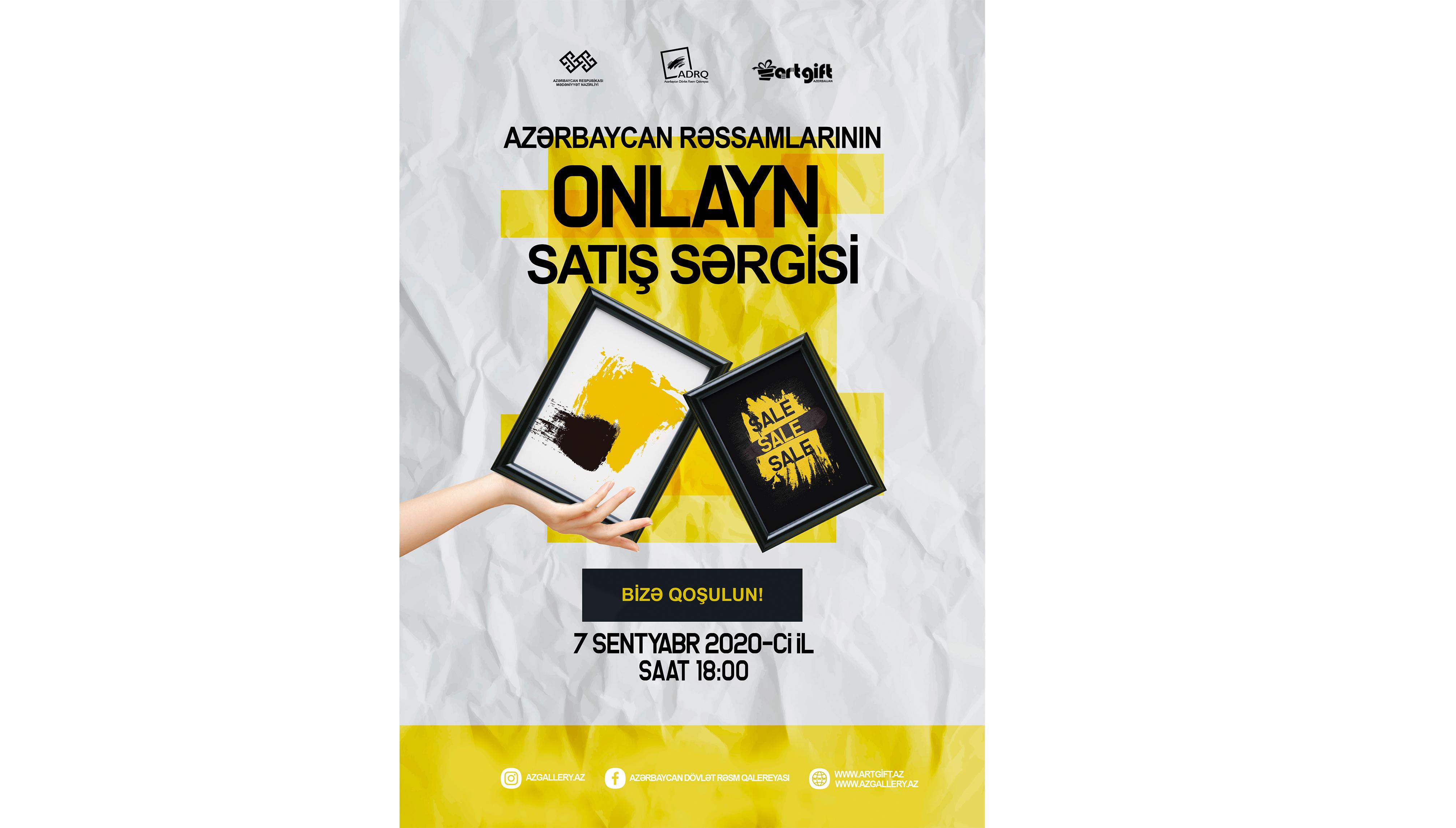 """""""Azərbaycan Rəssamlarının Onlayn Satış Sərgisi"""" baş tutacaq"""